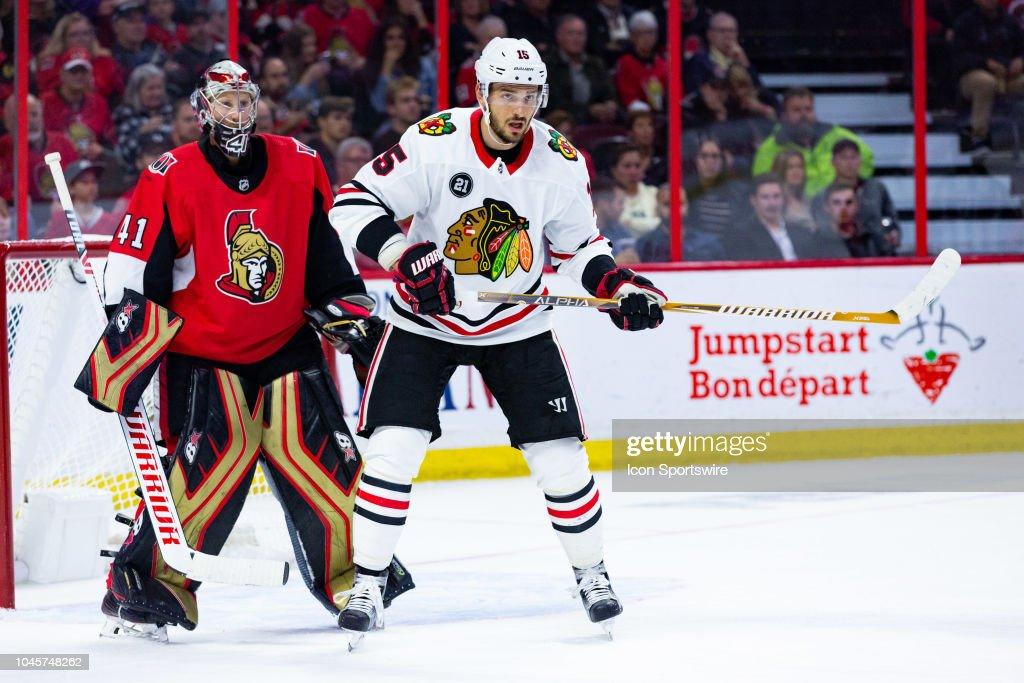 NHL: OCT 04 Blackhawks at Senators : News Photo