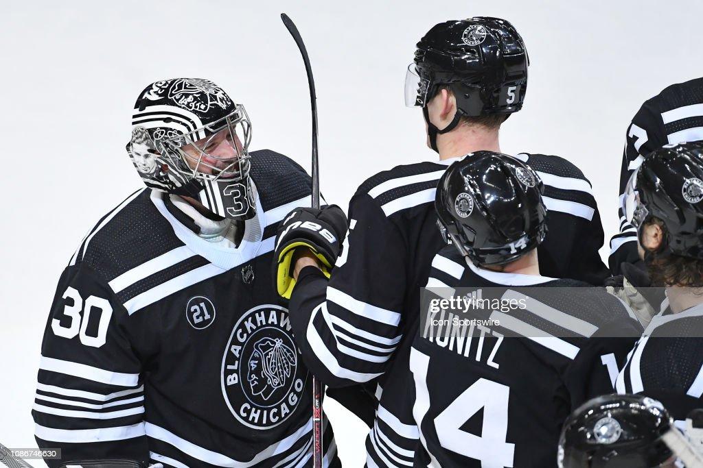 NHL: JAN 22 Islanders at Blackhawks : News Photo