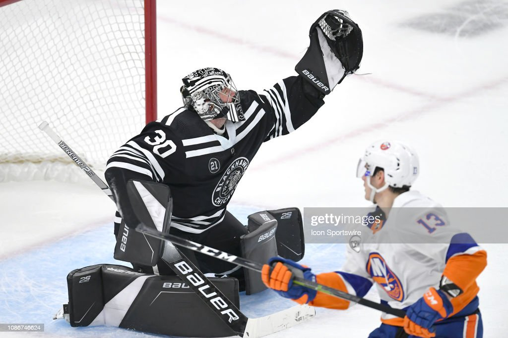 NHL: JAN 22 Islanders at Blackhawks : News Photo