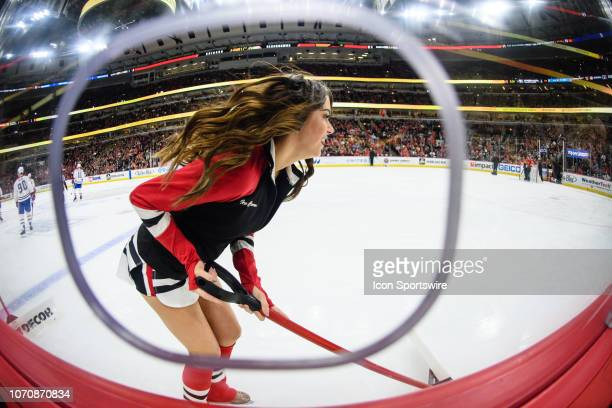 Chicago Blackhawks Ice Crew member during an NHL hockey game between the Montreal Canadiens and the Chicago Blackhawks on December 09 at the United...