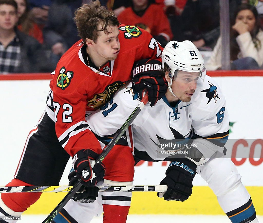 San Jose Sharks vs. Chicago Blackhawks : News Photo