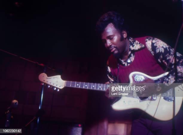 Chicago blues musician Otis Rush performing at the Ann Arbor Blues Jazz Festival at Otis Spann Memorial Field on September 10 1972