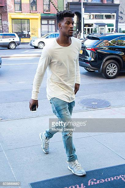 Chicago Bull player Jimmy Butler is seen in the East Village on April 24 2016 in New York City