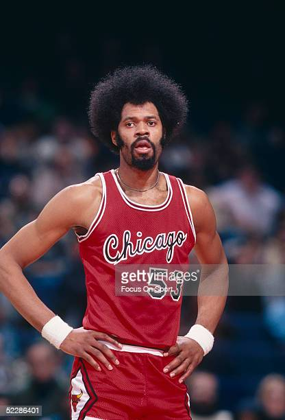 Chicago Bulls' center Artis Gilmore stands on the court during a game circa late 1970's