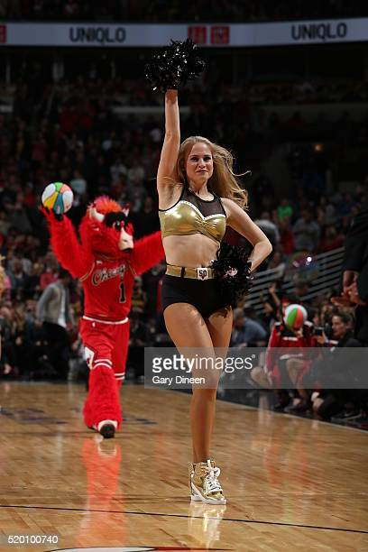 Chicago Bulls dancer is seen during the game against the Cleveland Cavaliers on April 9 2016 at the United Center in Chicago Illinois NOTE TO USER...