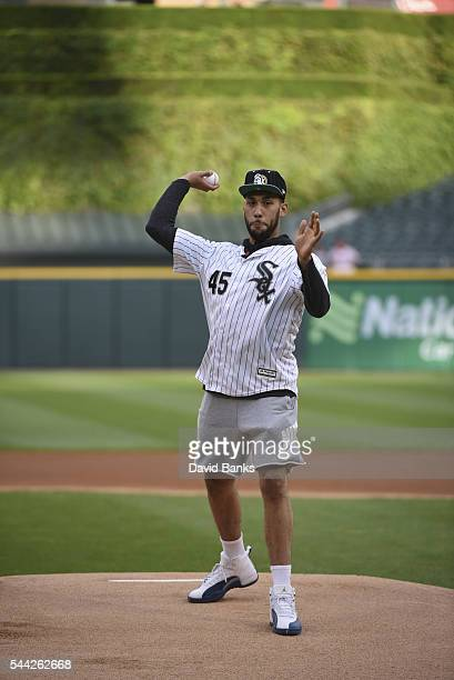 757894344083 Chicago Bulls first round draft pick Denzel Valentine throws out the  ceremonial first pitch before the
