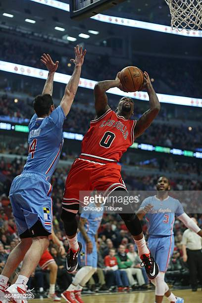 Chicago Bulls guard Aaron Brooks aims for the basket as Los Angeles Clippers guard JJ Redick defends during the first quarter on Sunday March 1 at...