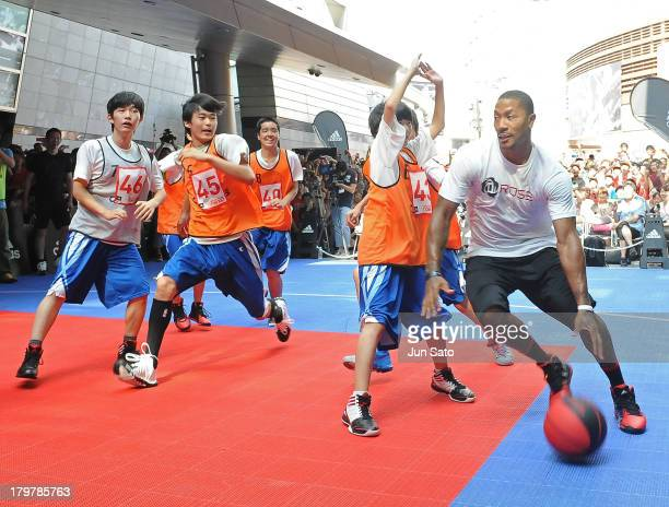 Chicago Bulls point guard Derrick Rose attends Adidas 'All In For D Rose' at Roppongi Hills on September 7 2013 in Tokyo Japan