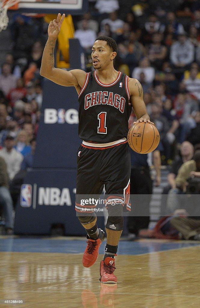 Denver Nuggets versus the Chicago Bulls : News Photo