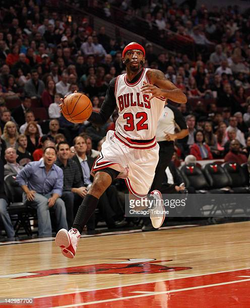 Chicago Bulls shooting guard Richard Hamilton drives to the basket on a breakaway during the first half of their game against the Washington Wizards...