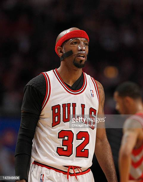 Chicago Bulls shooting guard Richard Hamilton during the first half of an NBA game against the Houston Rockets at the United Center in Chicago...