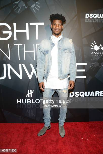 Chicago Bulls's Jimmy Butler attends teammate Dwyane Wade's A Night on the Runwade Event at Revel Fulton Market on March 19th 2017 in Chicago Illinois