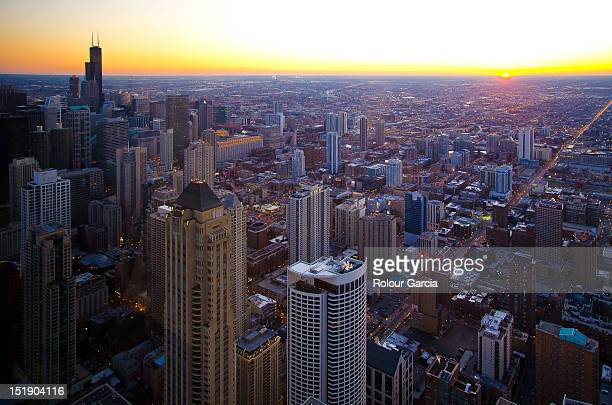 chicago cityscape - rolour garcia stock pictures, royalty-free photos & images