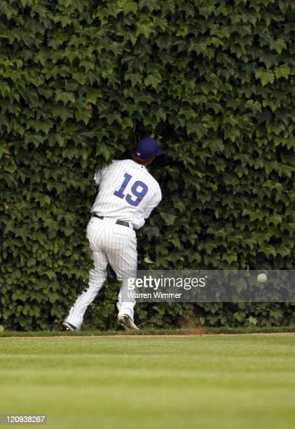 Chicago Cub left fielder, Matt Murton, misplayls a ball at Wrigley Field, Chicago, Illinois USA, June 14, 2006. The Astros lead after 3 innings by a...