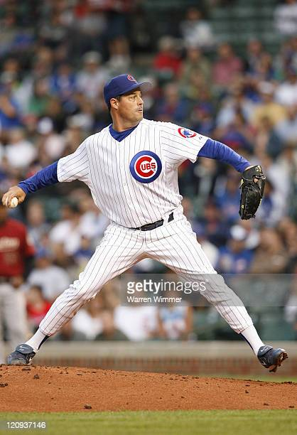 Chicago Cub pitcher Greg Maddux on the mound during game action at Wrigley Field Chicago Illinois USA June 14 2006 The Astros leading the Cub's by a...