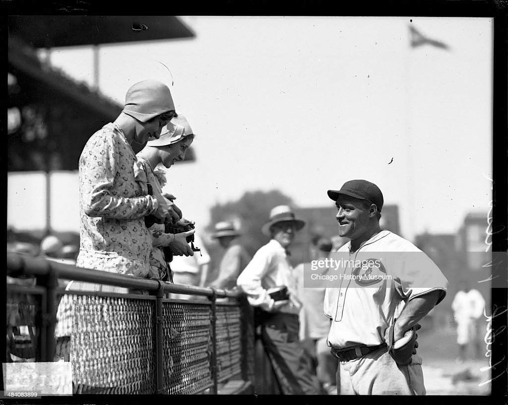 Chicago Cubs Player Hack Wilson : News Photo