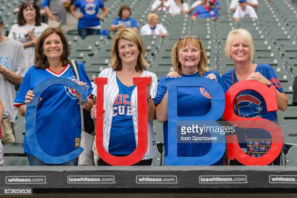 Chicago Cubs fans before an MLB game between the Chicago Cubs and the Chicago White Sox on July 26 at Guaranteed Rate Field in Chicago IL