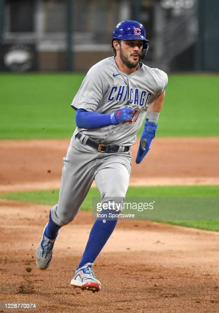 Chicago Cubs infielder Kris Bryant runs to 3rd during a Major League Baseball game between the Chicago White Sox and Chicago Cubs on September 26 at...