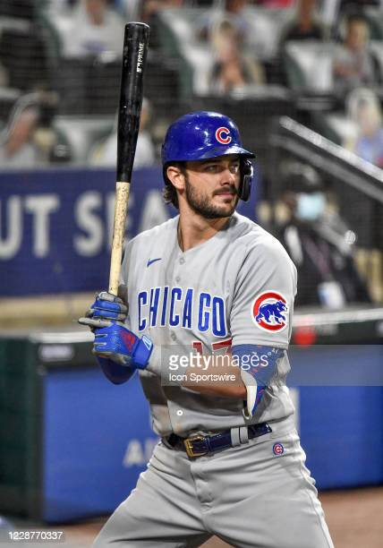 Chicago Cubs infielder Kris Bryant watches from the on-deck circle during a Major League Baseball game between the Chicago White Sox and Chicago Cubs...