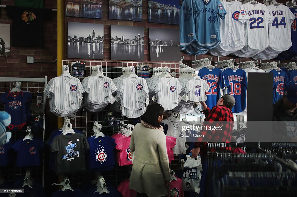 14be42e9 Euphoric Chicago Awaits Start Of First World Series For Cubs In 71 Years :  News Photo