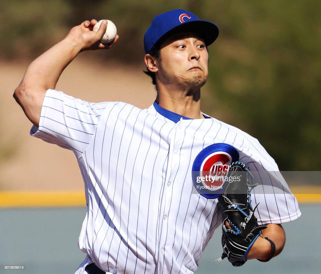 Baseball: Cubs' Darvish : News Photo