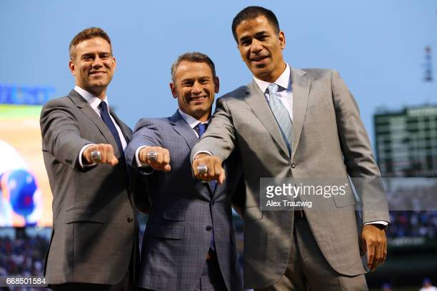 Chicago Cubs President of Baseball Operations Theo Epstein General Manager Jed Hoyer and Senior Vice President Player Development and Amateur...