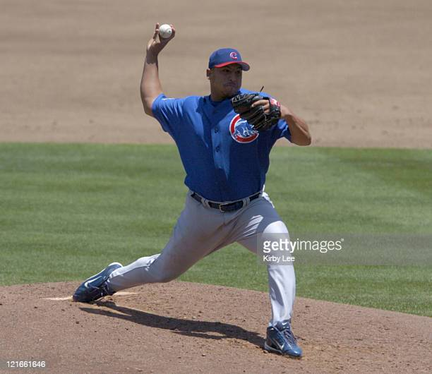 Chicago Cubs starter Carlos Zambrano pitched eight innings, allowing two hits and one run, in 7-3 victory over the Los Angeles Dodgers at Dodger...