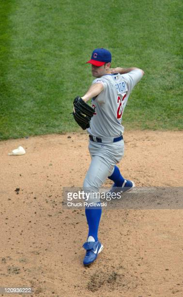 Chicago Cubs Starting Pitcher Mark Prior makes his return to the Cubs by allowing only one hit for 6 innings during the Interleague game against the...