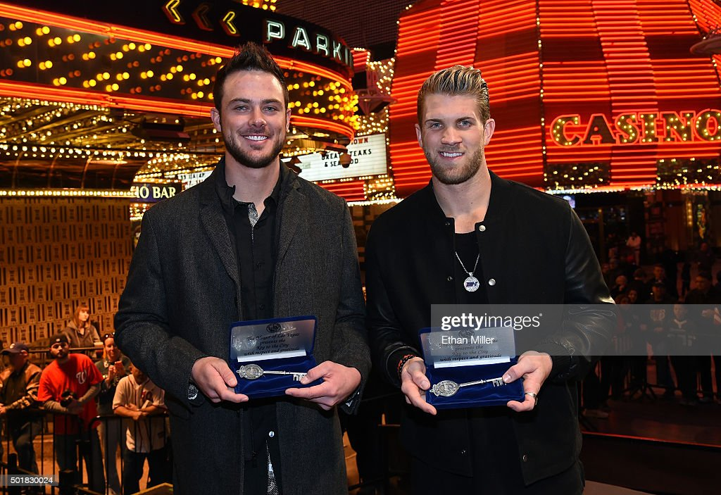 Bryce Harper And Kris Bryant Receive Keys To The City Of Las Vegas