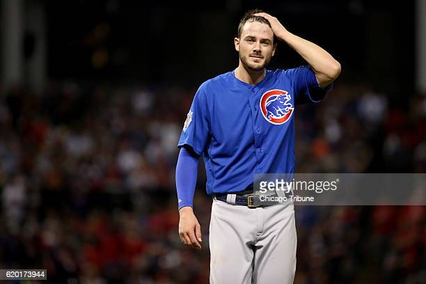Chicago Cubs third baseman Kris Bryant after top of the seventh inning against the Cleveland Indians on Tuesday Nov 1 in Game 6 of the World Series...