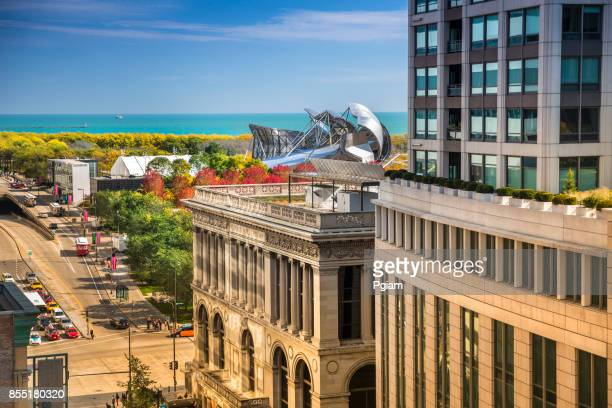 Chicago Cultural Center and Millennium Park in Illinois USA