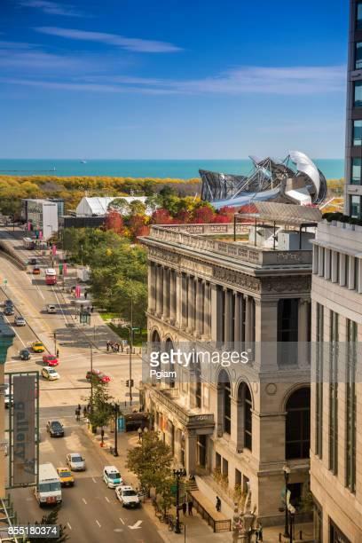Centre culturel de Chicago et du Millennium Park dans l'Illinois USA