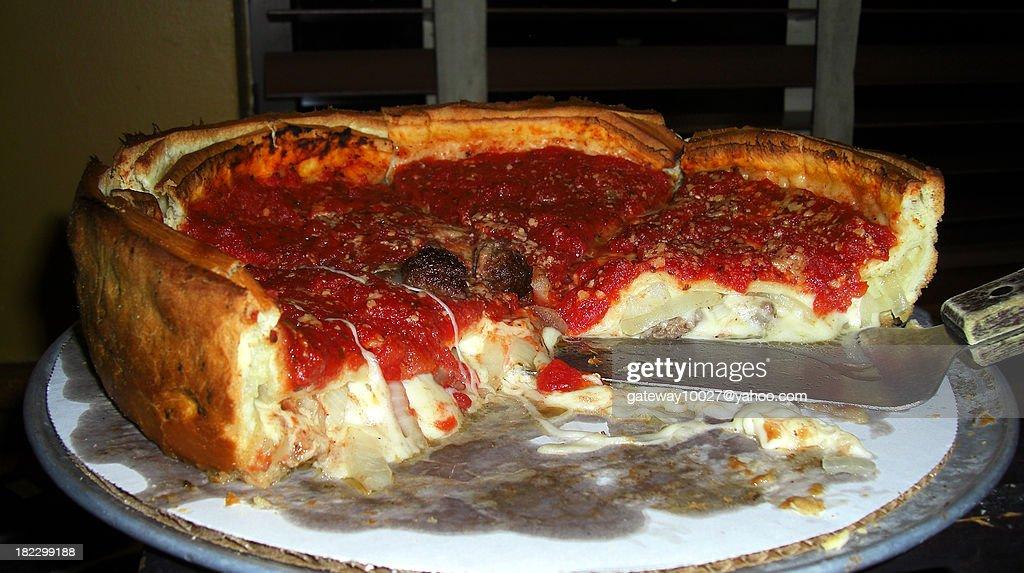 Chicago Deep Dish Pizza : Stock Photo