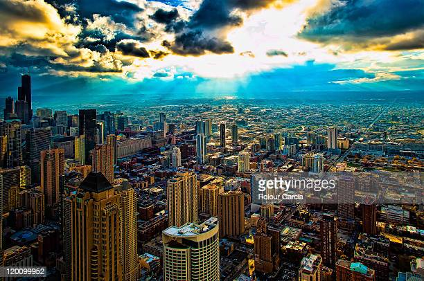 chicago downtown - rolour garcia stock pictures, royalty-free photos & images