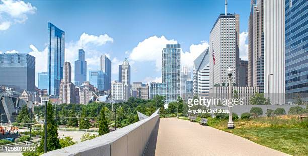 chicago downtown skyline - chicago illinois stock pictures, royalty-free photos & images