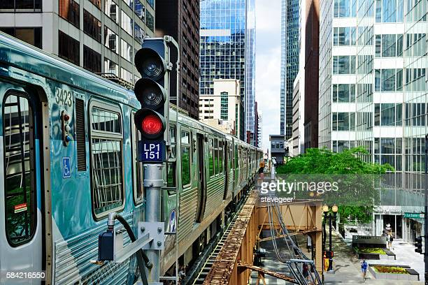 Chicago Elevated Railway Train, The Loop