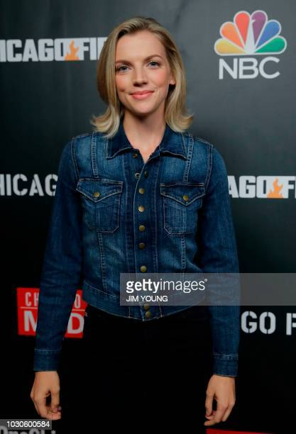 'Chicago Fire' cast member Kara Killmer arrives on the red carpet for the 4th Annual OneChicago Press Day in Chicago September 10 2018