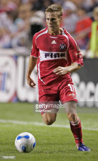 Chicago Fire Chris Rolfe in action against Chivas USA at Toyota Park in Bridgeview, Illinois on Saturday, August 12, 2006.