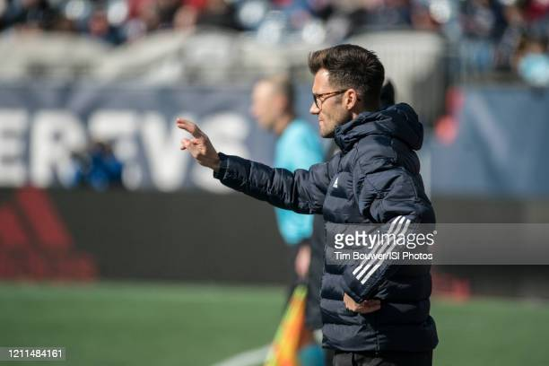 Chicago Fire coach Raphael Wicky during a game between Chicago Fire and New England Revolution at Gillette Stadium on March 7 2020 in Foxborough...