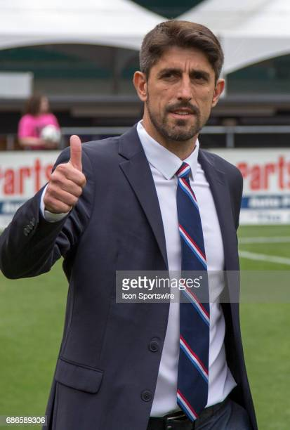 Chicago Fire coach Veljko Paunovic before a MLS match between DC United and the Chicago Fire on May 20 at RFK Stadium in Washington DC The Chicago...