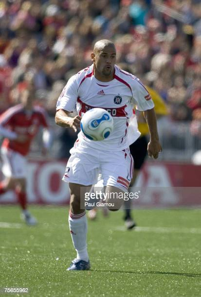 Chicago Fire defender C.J. Brown carries the ball during their match against Toronto FC in Toronto, Ontario, Canada on May 12, 2007. Toronto won 3-1.