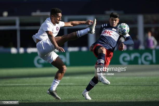 Chicago Fire FC player Johan Kappelhof left battles Revolution player Gustavo Bou during second period action The New England Revolution hosts the...