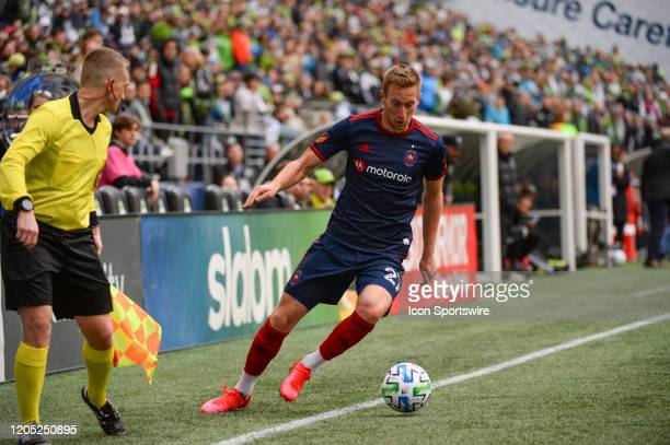 Chicago Fire forward Robert Beric in action during a MLS match between the Chicago Fire and the Seattle Sounders at Century Link Field in Seattle WA