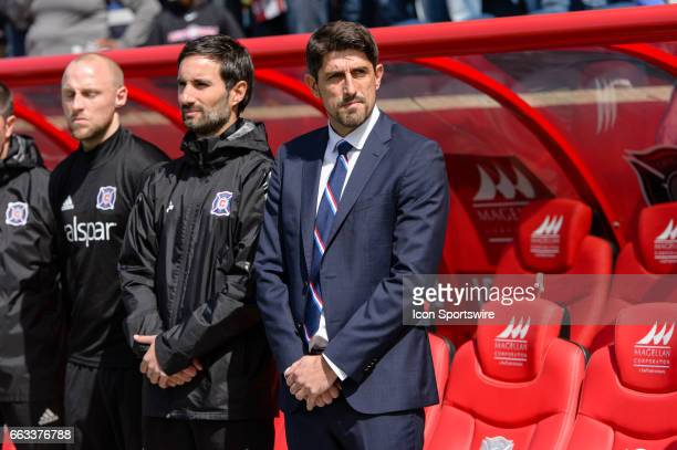 Chicago Fire head coach Veljko Paunovic before an MLS soccer match between the Montreal Impact and the Chicago Fire on April 01 at Toyota Park in...
