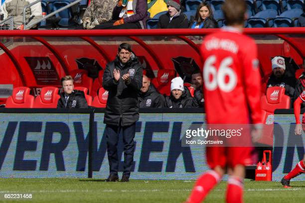 Chicago Fire head coach Veljko Paunovic during an MLS soccer match between Real Salt Lake and the Chicago Fire on March 11 at Toyota Park in Chicago...