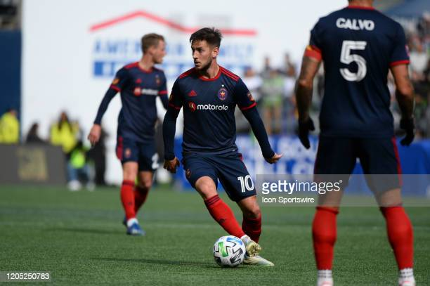 Chicago Fire midfielder Alvaro Medran in action during a MLS match between the Chicago Fire and the Seattle Sounders at Century Link Field in Seattle...