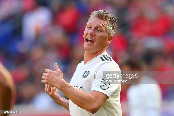 Chicago Fire midfielder Bastian Schweinsteiger during the first half of the Major League Soccer Game between the New York Red Bulls and the Chicago...