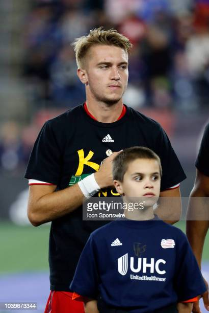 Chicago Fire midfielder Djordje Mihailovic before a match between the New England Revolution and the Chicago Fire on September 22 at Gillette Stadium...