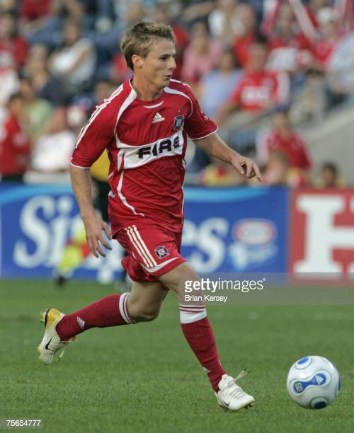 Chicago Fire's Chris Rolfe in action against the New York Red Bulls at Toyota Park in Bridgeview, Illinois on Sunday, September 3, 2006. The Fire won...