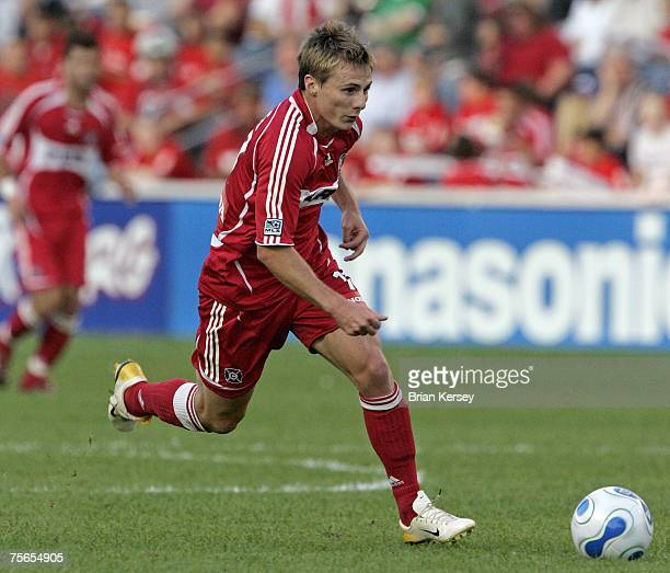 Chicago Fire's Chris Rolfe in action against the New York Red Bulls at Toyota Park in Bridgeview Illinois on Sunday September 3 2006 The Fire won 21
